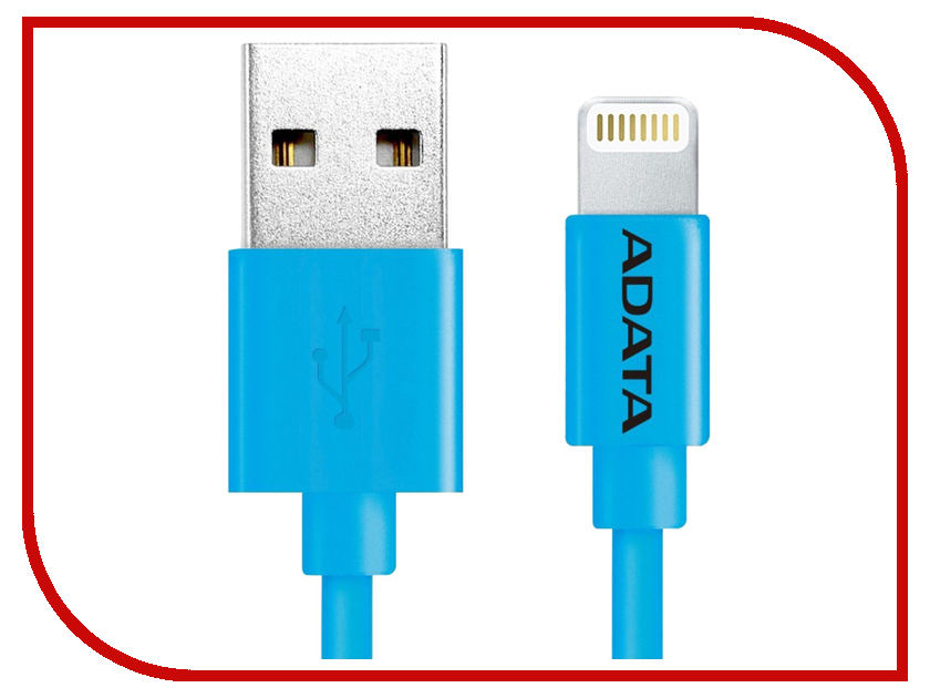 Аксессуар A-Data Lightning to USB 1m AMFIPL-100CM-CBL Blue